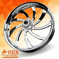 21 X 3.5 Sly Wheel Andamp Front Tire - Chrome - 2000-2020 Harley Touring Bagger