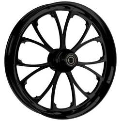 """21 X 3.5"""" Front Arc Black Front Wheel, Rotors And Tire - Harley Touring Bagger"""