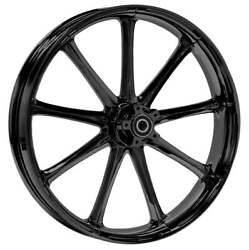 """21 X 3.5"""" Front Ion Black Front Wheel Rotors Tire - Harley Touring Bagger"""