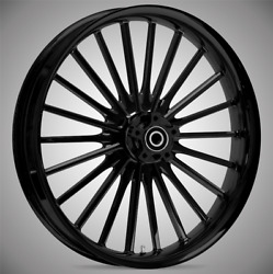 """21 X 3.5"""" Front Pulse Black Front Wheel Rotors Tire - Harley Touring Bagger"""