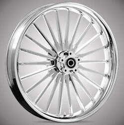 """Pulse Chrome 21x 3.5"""" Front And Rear Wheels - 2000-2020 Harley Touring Bagger"""