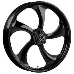 """21 X 3.5"""" Front Rollin Black Front Wheel Rotors Tire - Harley Touring Bagger"""