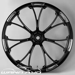 21 X 3.5andrdquo Front Arc Black Cut Polished Front Wheel Rotors Tire - Harley Touring
