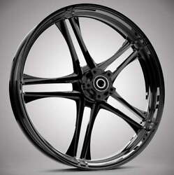 """Discharge Black 21x 3.5"""" Front And Rear Wheels - 2000-20 Harley Touring Bagger"""