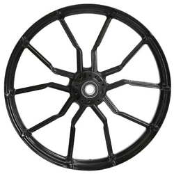 """21 X 3.5"""" Front Phase Black Front Wheel Rotors Tire - 2000-up Harley Touring"""