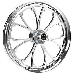 21 X 3.5andrdquo Front Arc Chrome Front Wheel Rotors Tire 2000-up Harley Touring