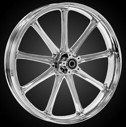 """21 X 3.5"""" Front Ion Chrome Front Wheel Rotors Tire 2000-up Harley Touring"""