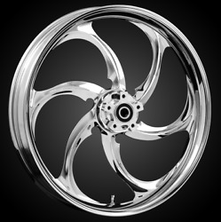 """21 X 3.5"""" Front Reactor Chrome Front Wheel Rotors Tire 2000-up Harley Touring"""