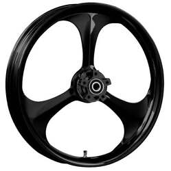 """Ryd Wheels 23 X 3.75"""" Amp Blackline Front And Rear Wheels - 2000-up Harley Touring"""