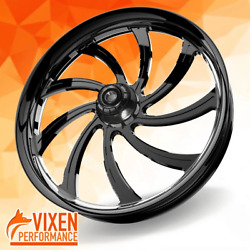 26 X 3.75 Sly Wheel And Front Tire - Black - 2000-2020 Harley Touring 26-253b-t