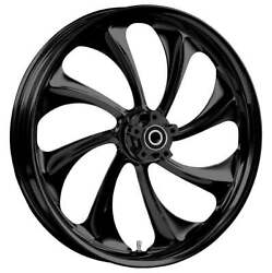 """23 X 3.75"""" Twisted Blackline Front And Rear Wheels - 2000-up Harley Touring"""