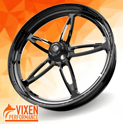 26 X 3.75 Vibrance Wheel And Front Tire - Black - 00-19 Harley Touring 26-250b-t