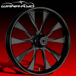 Ryd Wheels Diode Blackline 23 Fat Front And Rear Wheels Only 00-07 Bagger