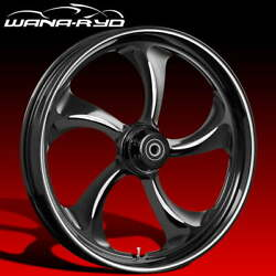 Ryd Wheels Rollin Starkline 21 Fat Front And Rear Wheels Only 00-07 Bagger