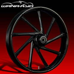 Ryd Wheels Kinetic Blackline 21 Fat Front And Rear Wheels Only 00-07 Bagger