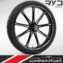 """Ion Starkline 21 X 5.5"""" Fat Front Wheel And 180 Tire Package 00-07 Touring"""