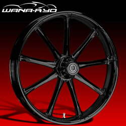 Ryd Wheels Ion Blackline 23 Fat Front And Rear Wheels Only 00-07 Bagger