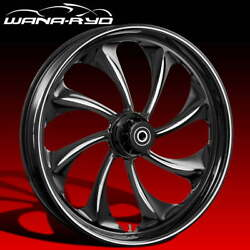 Twisted Starkline 18 Fat Front Wheel Tire Package Single Disk 08-19 Bagger