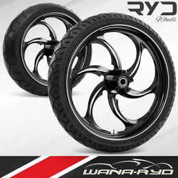Ryd Wheels Reactor Starkline 21 Front And Rear Wheels Tires Package 00-07 Bagger
