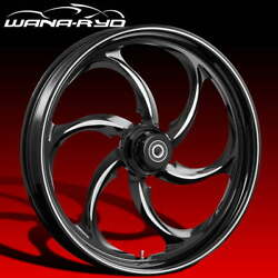 Ryd Wheels Reactor Starkline 21 Fat Front And Rear Wheels Only 2008 Bagger