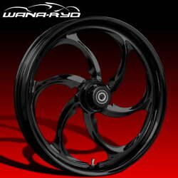 Ryd Wheels Reactor Blackline 21 Fat Front And Rear Wheels Only 00-07 Bagger