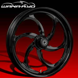 Ryd Wheels Reactor Blackline 23 Fat Front And Rear Wheels Only 2008 Bagger