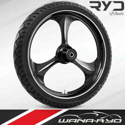 """Amp Starkline 21 X 5.5"""" Fat Front Wheel And 180 Tire Package 00-07 Touring"""
