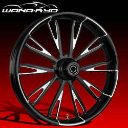 Resistor Starkline 21x5.5 Fat Front Wheel And Tire Package 00-07 Harley Touring