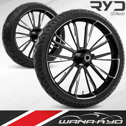 Ryd Wheels Resistor Starkline 21 Front And Rear Wheels Tires Package 2008 Bagger