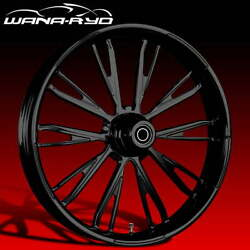 Resistor Blackline 21x5.5 Fat Front Wheel And 180 Tire 08-20 Harley Touring Bagger