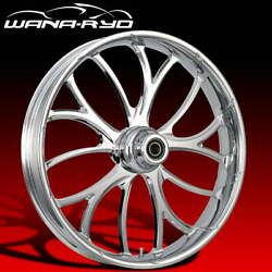 Ryd Wheels Electron Chrome 23 Front Wheel Tire Package Dual Rotors 08-19 Bagger