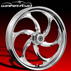 Reactor Chrome 23 Fat Front And Rear Wheels, Tires Package 09-19 Bagger