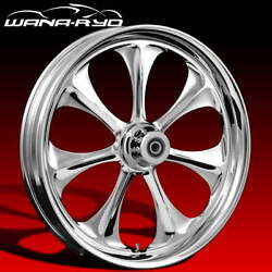 Ryd Wheels Atomic Chrome 23 Fat Front And Rear Wheels Tires Package 09-19 Bagger