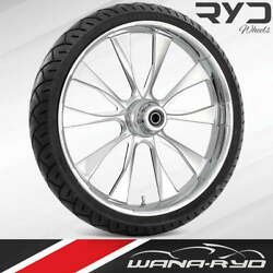 Ryd Wheels Diode Chrome 21 Front Wheel And Tire Package 08-19 Bagger