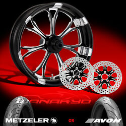 Performance Machine Paramount Contrast Cut 21 Front Wheel Tire And Dual Rotors