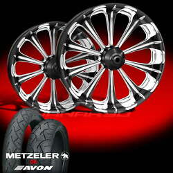 Revel Platinum Wheels And Tires For 1990-2006 Softail Fat Boy Lo
