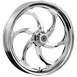 Fat Tire 21 X 5.5 Reactor Chrome Wheel Package - 2000-19 Harley Touring Models