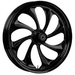 180 Fat Tire 21 X 5.5 Twisted Blackline Wheel Package - 2000-19 Harley Touring