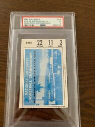 1968 Ncaa Basketball Finals Ucla 78 Vs North Carolina 55 Ticket Stub Psa5