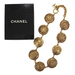 31 Rue Cambon Circle Chain Used Necklace Gold France Vintage Auth Ad65 O