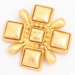 Coco Mark Brooch Gold Plated Gold