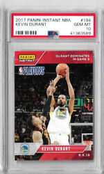 2017 Panini Instantanandeacutee Nba Kevin Durant Psa 10 Another Jeu 3 Pochette 3 Pointer