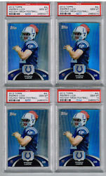 2012 Topps Andrew Luck Vacances Mega Fb Psa 10 - Investor Lot - 6 Total Psa 10and039s