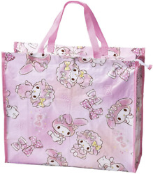 JAPAN SANRIO My Melody Friend Pink Rabbit Leisure Bag EXTRA LARGE Tote School $15.98