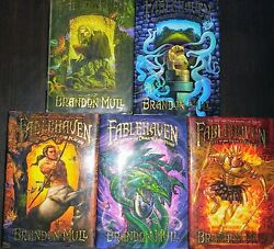 Fable Haven Series By Brandon Mull Books 1-5 All Hc W/ Dj Book 5 Signed