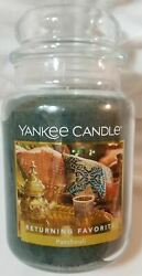Yankee Candle PATCHOULI Large Jar 22 Oz Green Housewarmer New Wax Favorite