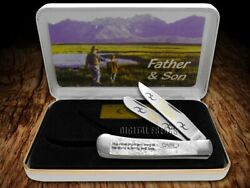 Case Xx Trapper Knife Father And Son White Pearl 1 1/500 Stainless