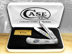 Case Xx Friends Of Coal America Needs Coal White Pearl 2 1/500 Trapper Knives
