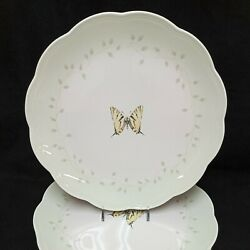 ❤ Lenox Butterfly Meadow Green Rim Dinner Plate 10 Inches Pristine
