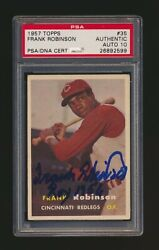 1957 Topps 35 Frank Robinson Signed Rc Psa 10 Auto Rookie Card Roy 1956 Insc